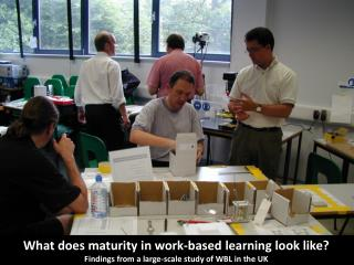 What does maturity in work-based learning look like ? Findings  from a large-scale study of WBL in the UK