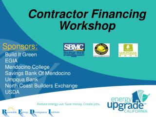 Contractor Financing Workshop