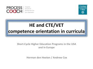 HE and CTE/VET  competence orientation in curricula