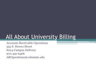 All About University Billing