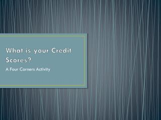 What is your Credit Scores?