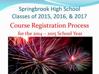 Springbrook High School Classes of 2015, 2016, & 2017