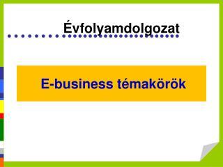 E-business témakörök