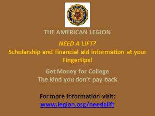 AVAILABLE SCHOLARSHIPS FROM STUDENTSCHOLARSHIPS.ORG High School students from the  Florissant  area are eligible for: