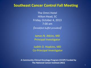 Southeast Cancer Control Fall Meeting