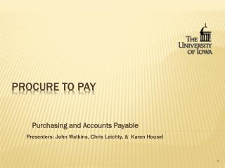 Procure to Pay