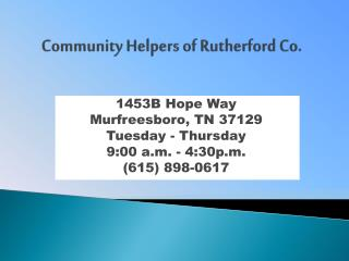 Community Helpers of Rutherford Co.