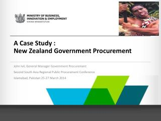 A Case Study : New  Zealand  Government  Procurement
