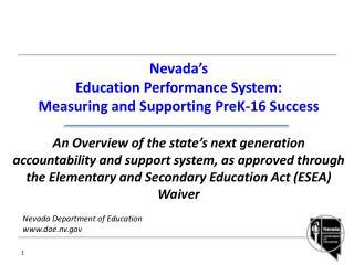 Nevada Department of Education www.doe.nv.gov