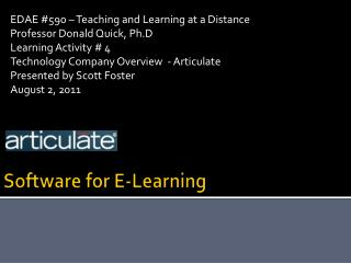 Software for E-Learning