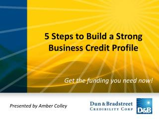 5 Steps to Build a Strong Business Credit Profile