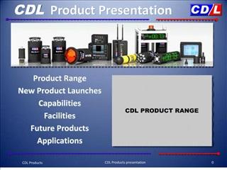 cdl product presentation