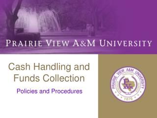 Cash Handling and Funds Collection