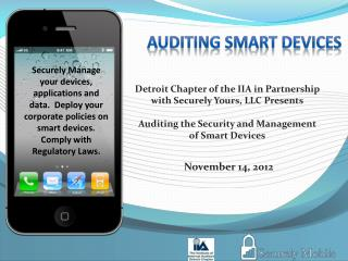 Auditing SMART Devices