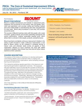 Host  Company: Blount  International
