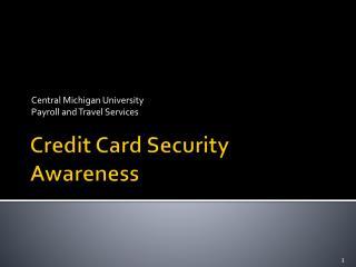 Credit Card Security Awareness
