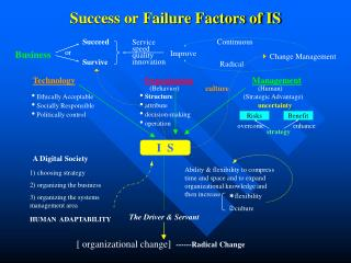 Success or Failure Factors of IS