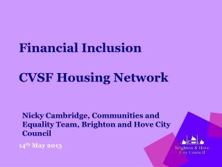 Financial Inclusion CVSF Housing Network