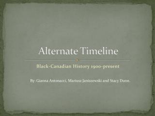 Alternate Timeline