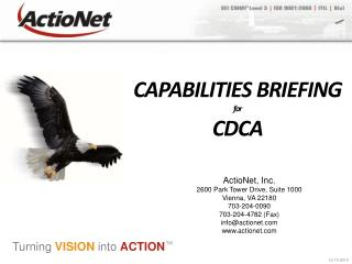 CAPABILITIES BRIEFING for  CDCA