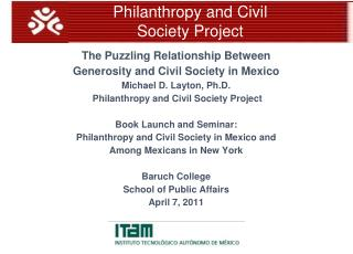 Philanthropy and Civil Society Project