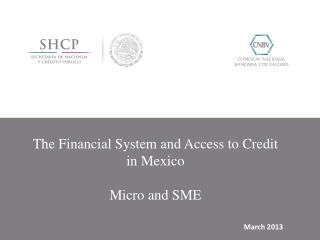 The Financial  System and Access  to Credit in Mexico  Micro and  SME