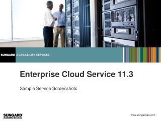 Enterprise Cloud Service 11.3