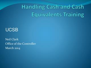 Handling Cash and Cash Equivalents Training