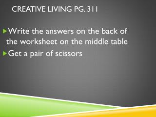 Creative Living pg. 311