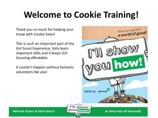 Welcome to Cookie Training!