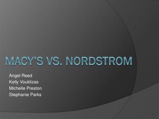 Macy's vs. Nordstrom