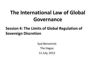 The International Law of Global Governance