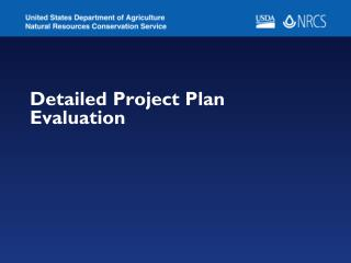Detailed Project Plan Evaluation