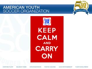 AYSO should be fun for everyone!