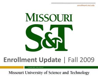 Enrollment Update  | Fall 2009