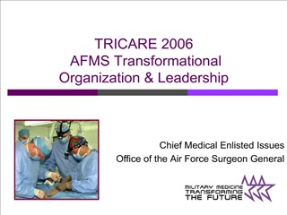 tricare 2006  afms transformational organization  leadership