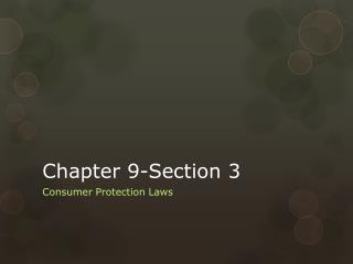 Chapter 9-Section 3