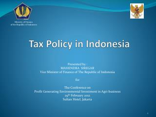 Tax Policy in Indonesia