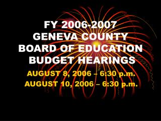 fy 2006-2007 geneva county board of education budget hearings