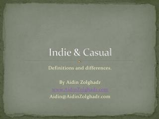 Indie & Casual