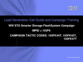 Lead Generation Call Guide and Campaign Training