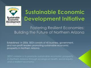 Sustainable Economic Development Initiative
