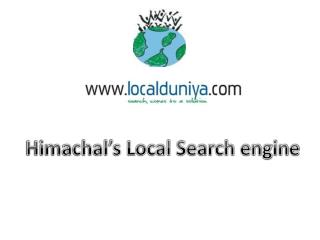 Himachal's Local Search engine