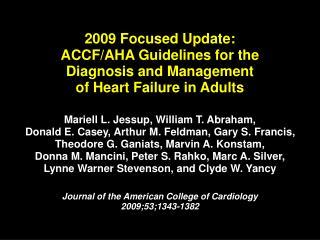 2009 focused update:  accf