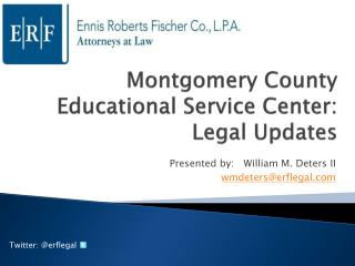 Montgomery County Educational Service Center:  Legal Updates