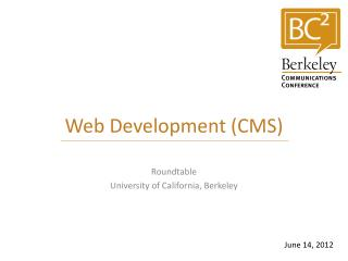 Web Development (CMS)