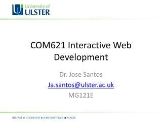 COM621 Interactive Web Development