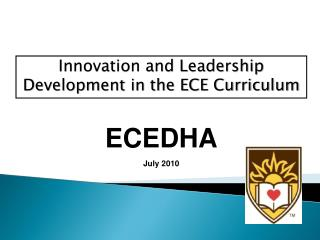 Innovation and Leadership Development in the ECE Curriculum