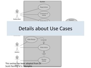 Details about Use Cases