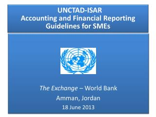 UNCTAD-ISAR  Accounting and Financial Reporting Guidelines for SMEs